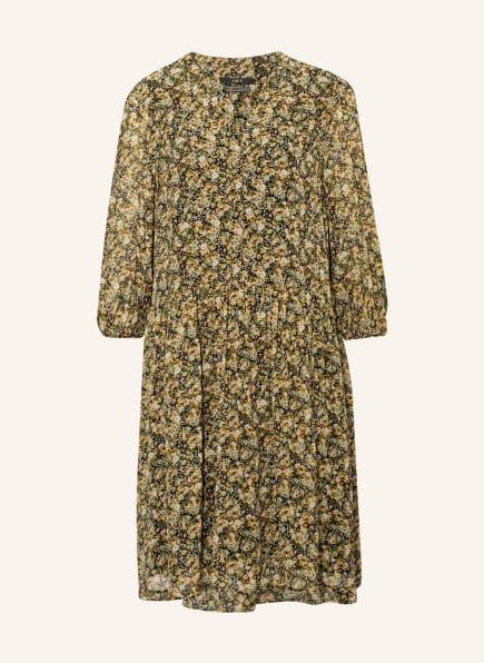 SET Kleid mit 3/4-Arm, Farbe: SCHWARZ/ GRÜN/ HELLGELB (Bild 1)