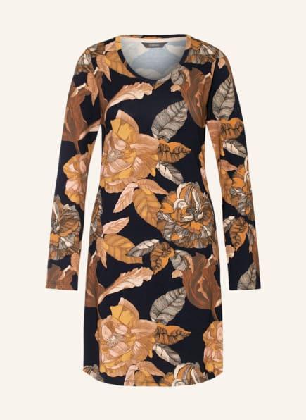 ESSENZA Nachthemd ELM GWYNETH, Farbe: DUNKELBLAU/ COGNAC (Bild 1)