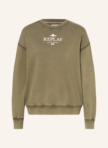REPLAY Sweatshirt , Farbe: KHAKI (Bild 1)