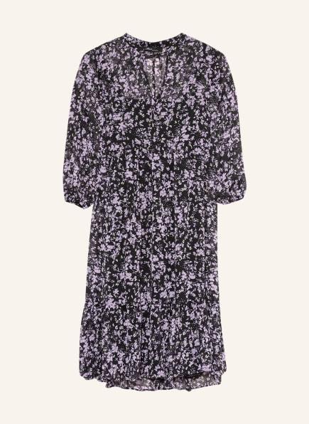 mavi Kleid mit 3/4-Arm, Farbe: SCHWARZ/ LILA (Bild 1)