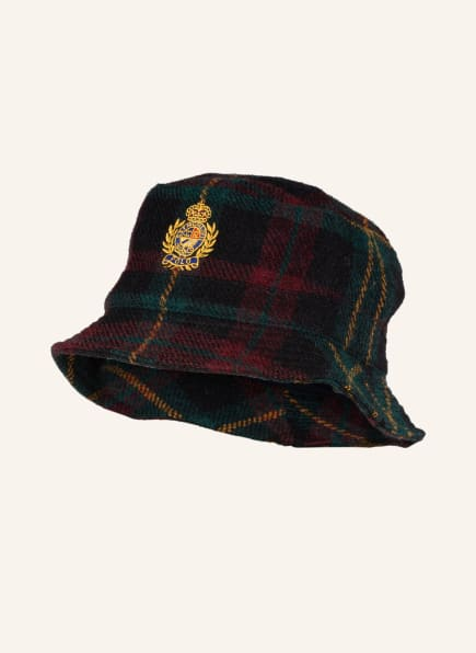 POLO RALPH LAUREN Bucket-Hat mit Alpaka, Farbe: DUNKELGRÜN/ DUNKELROT/ SCHWARZ (Bild 1)