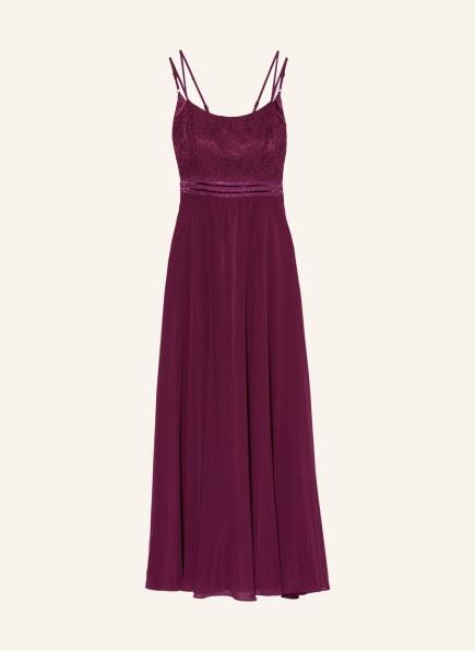 VM VERA MONT Abendkleid mit Spitze , Farbe: DUNKELROT (Bild 1)