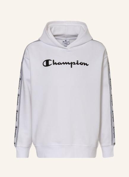 Champion Hoodie mit Galonstreifen, Farbe: WEISS (Bild 1)