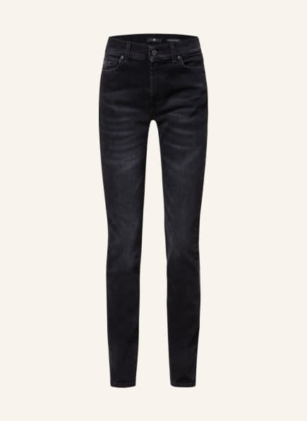 7 for all mankind Skinny Jeans ROXANNE, Farbe: DE Dare BLACK (Bild 1)