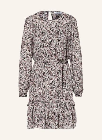MOSS COPENHAGEN Kleid ENNES RIKKELIE, Farbe: LILA/ SCHWARZ/ HELLBLAU (Bild 1)