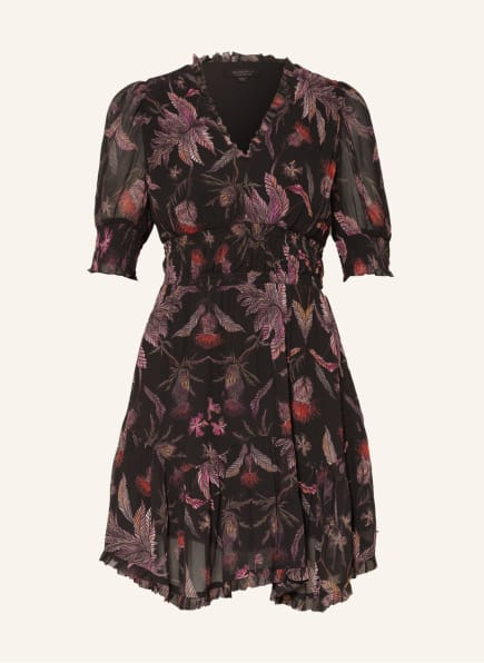 ALL SAINTS Kleid VIA HARRIS, Farbe: SCHWARZ/ PINK/ ROT (Bild 1)