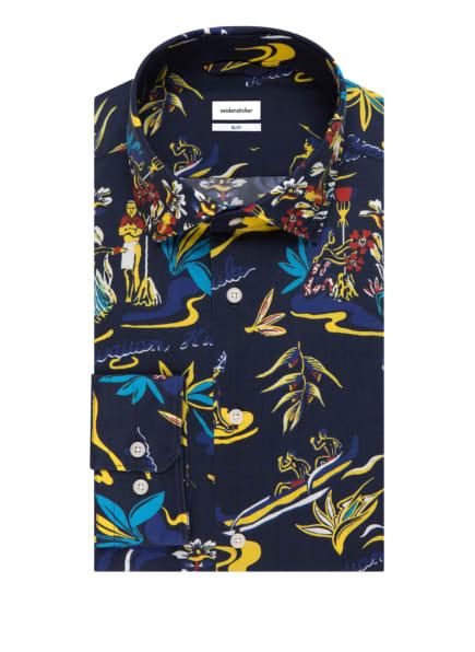 seidensticker Hemd Slim Fit, Farbe: DUNKELBLAU (Bild 1)
