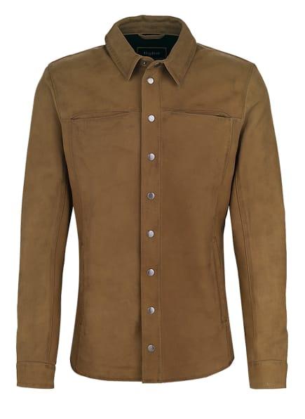 tigha Lederhemd TENNER Slim Fit, Farbe: BRAUN (Bild 1)