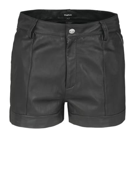 tigha Ledershorts ROCK N ROLL SHORTS Slim Fit, Farbe: SCHWARZ (Bild 1)