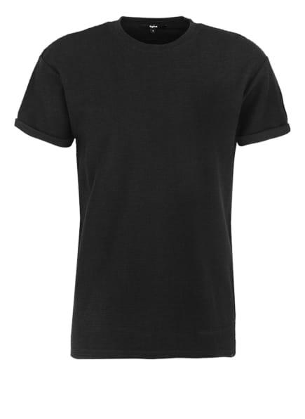 tigha T-Shirt ZANDER JAQUARD Regular Fit, Farbe: SCHWARZ (Bild 1)