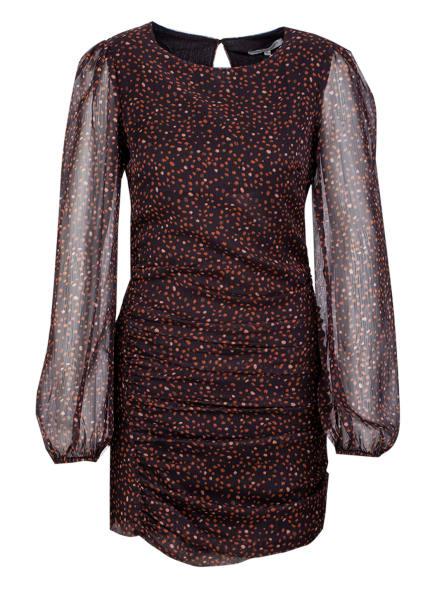 YOUNG POETS SOCIETY Kleid KAIA MINI LONGSLEEVE 214 Regular Fit, Farbe: SCHWARZ/ BRAUN (Bild 1)