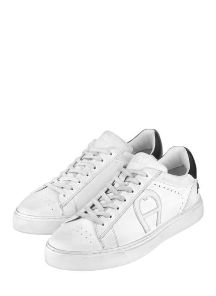 AIGNER Sneaker DAVID 40A, Farbe: WEISS/ SCHWARZ/ COGNAC (Bild 1)