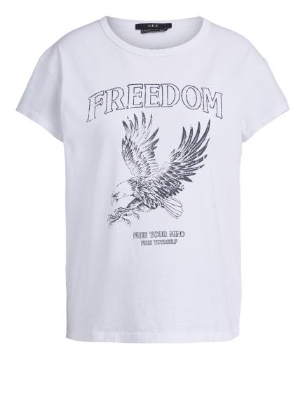 SET T-Shirt MIT BANDPRINT, Farbe: WEISS (Bild 1)