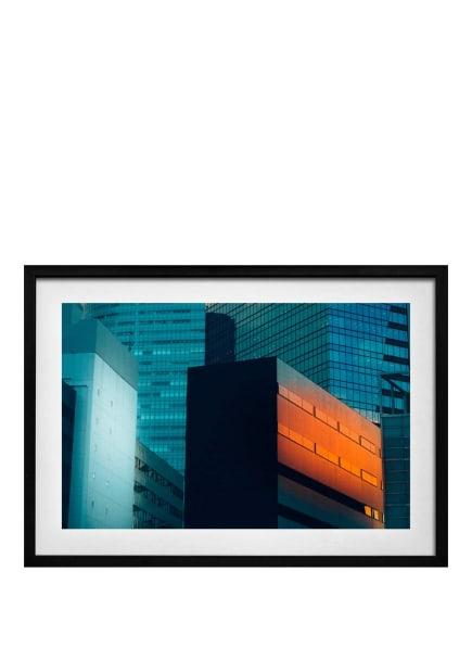 DEMOCRATIC GALLERY Poster WOLKENKRATZER, Farbe: ORANGE (Bild 1)