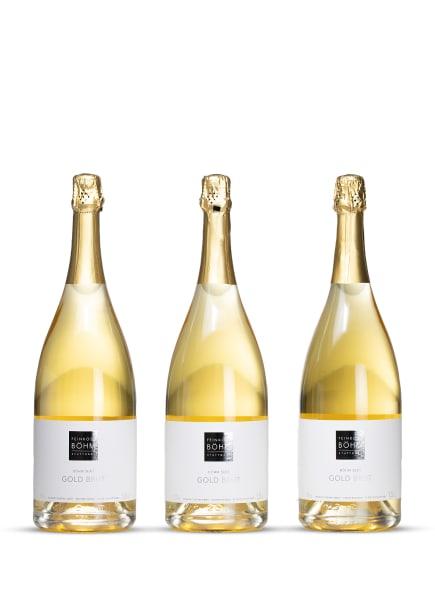 Feinkost Böhm Schaumwein SEKT GOLD 1,5L (3 x 0,75L), Farbe: WEISS (Bild 1)