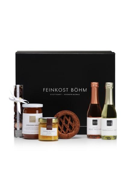 Feinkost Böhm Geschenkbox SÜSSER FEINSCHMECKERGRUSS, Farbe: SCHWARZ (Bild 1)