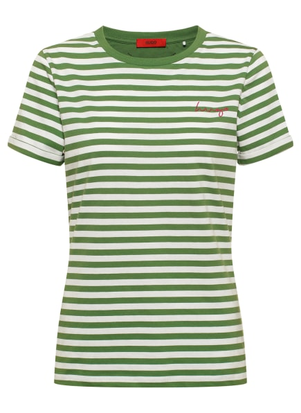 HUGO T-Shirt THE SLIM TEE 10, Farbe: GRÜN (Bild 1)