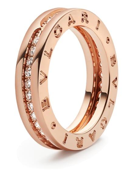 BVLGARI Ring B.ZERO1 aus 18 Karat Roségold und Diamanten, Farbe: ROSÉGOLD (Bild 1)