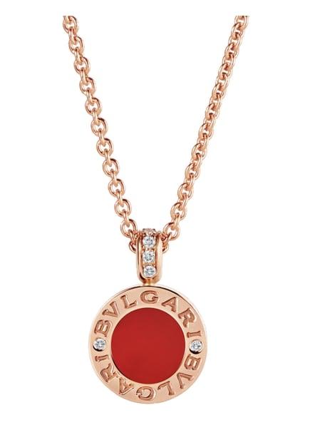 BVLGARI Halskette BVLGARI BVLGARI aus 18 Karat Roségold, Diamanten und Perlmutt, Farbe: ROSÉGOLD/ WEISS/ ROT (Bild 1)