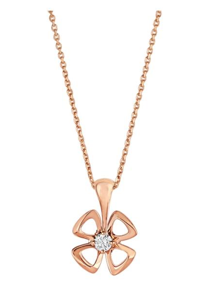 BVLGARI Halskette FIOREVER aus 18 Karat Roségold und Diamanten, Farbe: ROSÉGOLD (Bild 1)