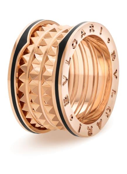 BVLGARI Ring B.ZERO1 ROCK aus 18 Karat Roségold und Keramik, Farbe: SCHWARZ (Bild 1)