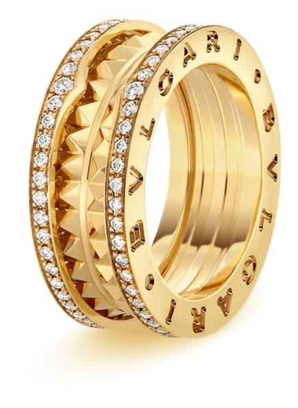 BVLGARI Ring B.ZERO1 aus 18 Karat Gelbgold und Keramik, Farbe: GOLD (Bild 1)