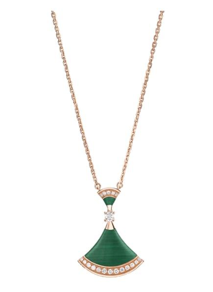 BVLGARI Halskette DIVAS'DREAM aus 18 Karat Roségold, Farbe: ROSÉGOLD/ GRÜN (Bild 1)