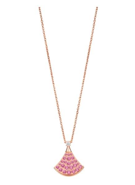 BVLGARI Halskette DIVAS'DREAM aus 18 Karat Roségold, Diamanten und Saphir, Farbe: ROSÉGOLD/ LILA/ ROSA (Bild 1)