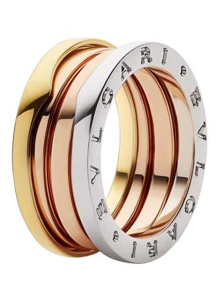 BVLGARI Ring B.ZERO1 aus 18 Karat Weißgold, 18 Karat Roségold und 18 Karat Gelbgold, Farbe: WEISSGOLD/ ROSÉGOLD/ GOLD (Bild 1)