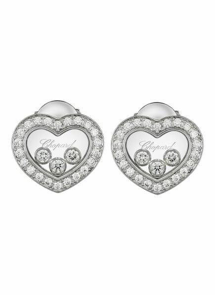 Chopard Ohrring HAPPY DIAMONDS ICONS Ohrringe aus 18 Karat Weißgold und Diamanten, Farbe: WEISSGOLD (Bild 1)