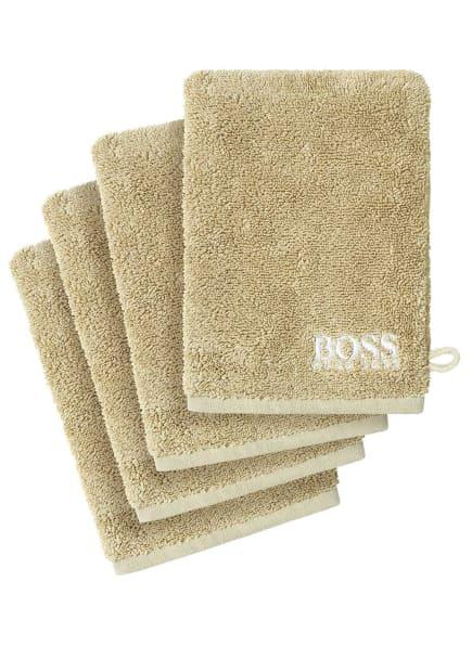 BOSS Waschhandschuh im 4er Set, Farbe: BEIGE (Bild 1)