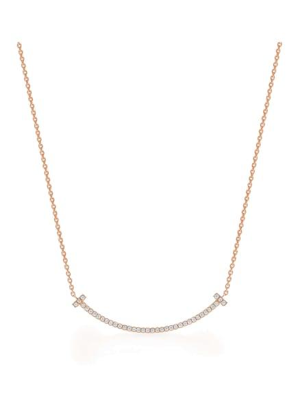 TIFFANY & Co. Anhänger TIFFANY T SMILE aus 18 Karat Roségold mit Diamanten, Farbe: ROSÉGOLD (Bild 1)