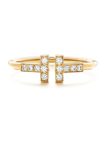 TIFFANY & Co. Ring TIFFANYT WIRE aus 18KaratGold mit Diamanten, Farbe: GOLD (Bild 1)