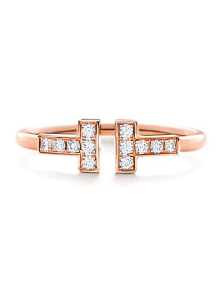 TIFFANY & Co. Ring TIFFANYT WIRE aus 18Karat Roségold mit Diamanten, Farbe: ROSÉGOLD (Bild 1)