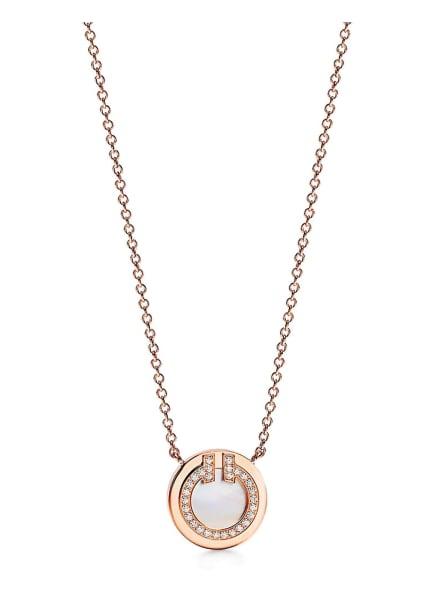 TIFFANY & Co. Anhänger TIFFANYT CIRCLE aus 18 Karat Roségold mit Diamanten und Perlmutt, Farbe: ROSÉGOLD (Bild 1)
