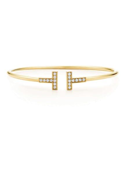 TIFFANY & Co. Armreif TIFFANYT WIRE aus 18KaratGold mit Diamanten, Farbe: GOLD (Bild 1)