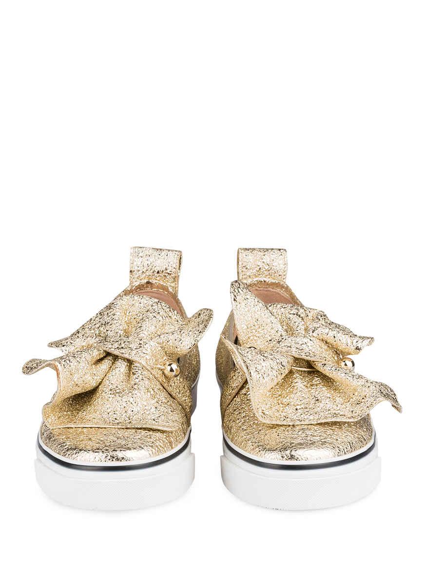 Valentino Red Von Gold sneaker Kaufen Metallic on Bei Slip 0w8mnvN