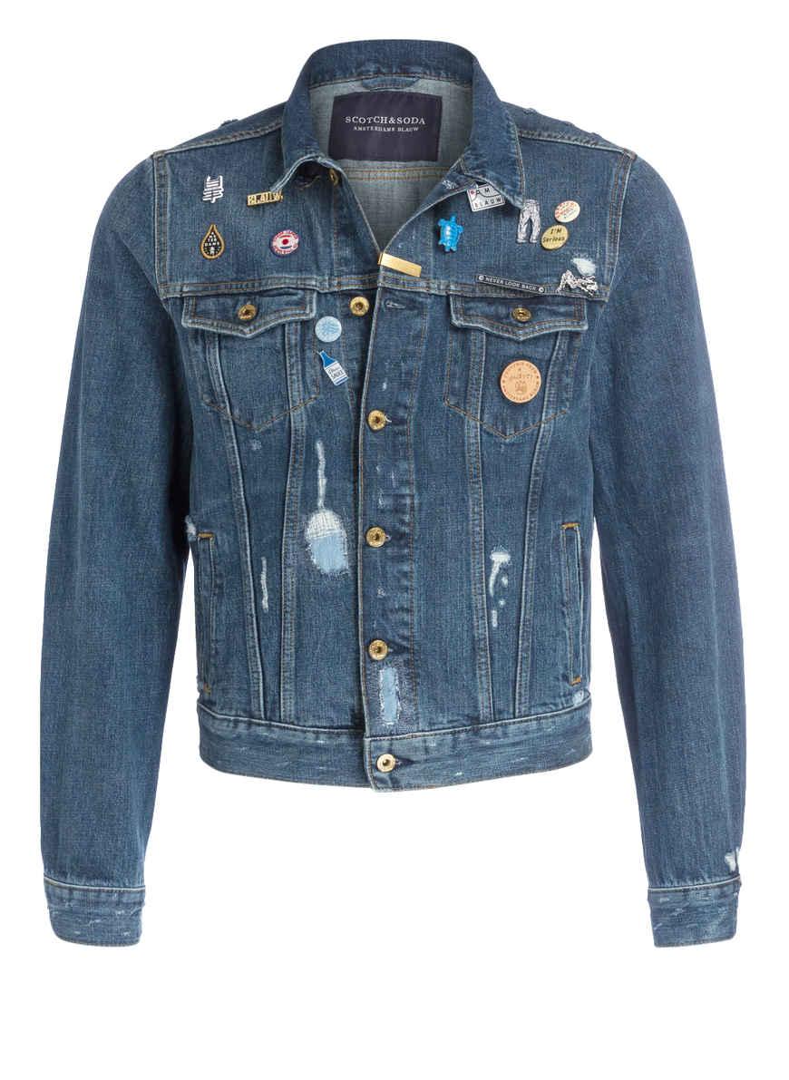 jeansjacke mit patches von scotch soda bei breuninger kaufen. Black Bedroom Furniture Sets. Home Design Ideas