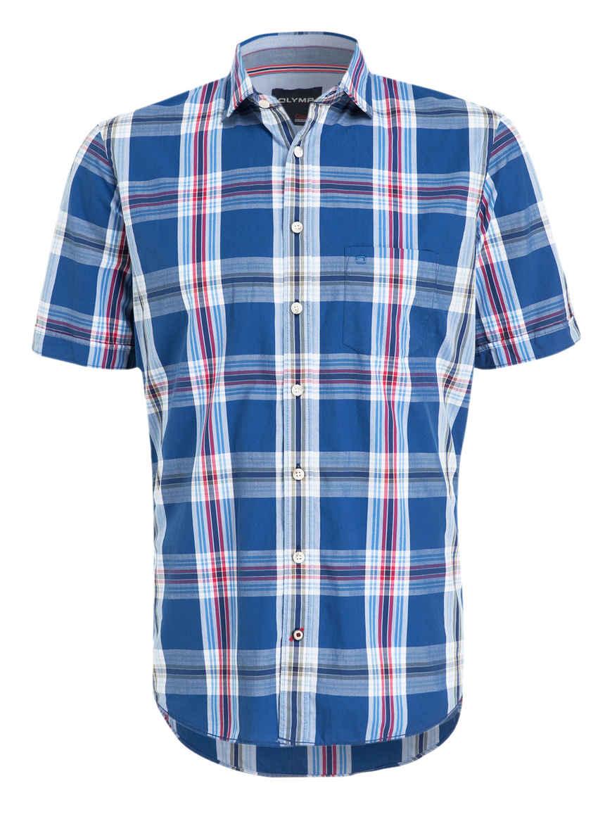 Kaufen Modern Bei Casual Von Olymp Fit Halbarm hemd Kariert BlauWeissRot 29IEDH