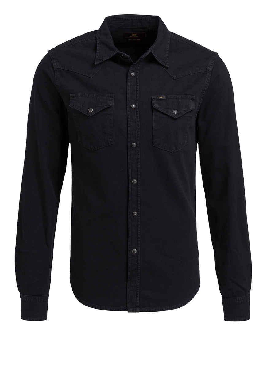Von Fit Schwarz Hemd Slim Kaufen Lee Bei O8nwkXZN0P