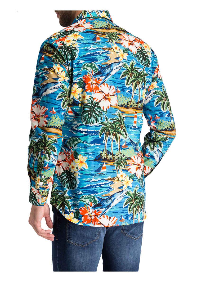 Hemd Hawaii Paulamp; Fit Regular Shark Von Bei Kaufen BlauGrünRot mN8vnw0
