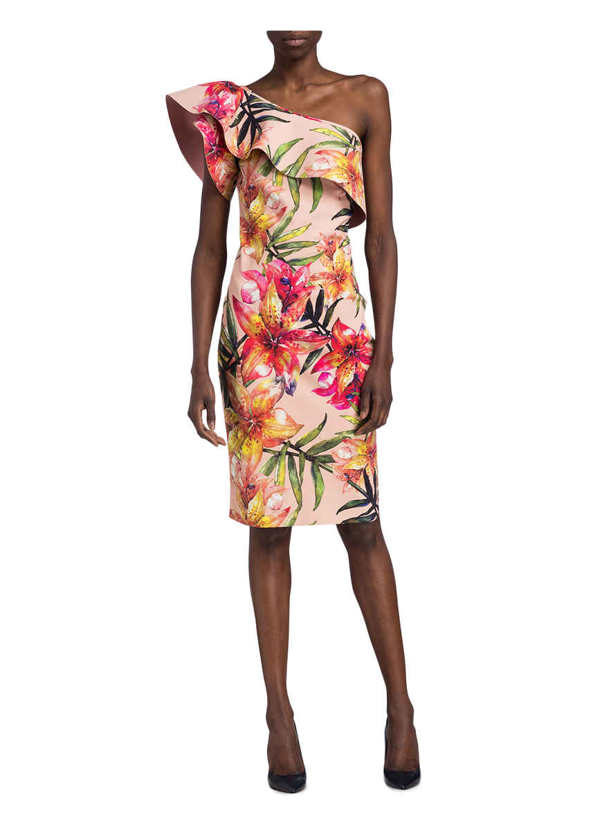 One-shoulder-kleid Elisse Von Chiara Boni La Petite Robe Rosa/ Grün/ Gelb