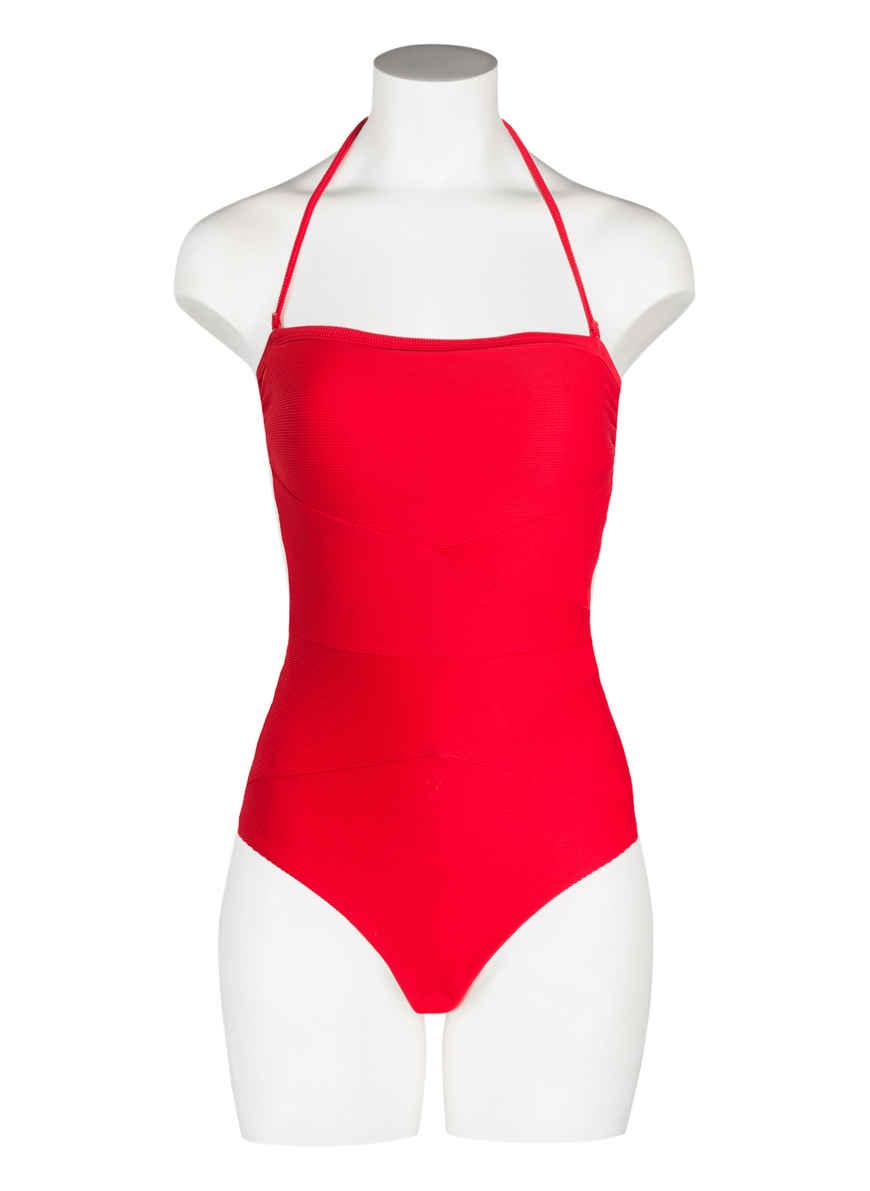 Neckholder-badeanzug Mini Rib Von Miléa Rot