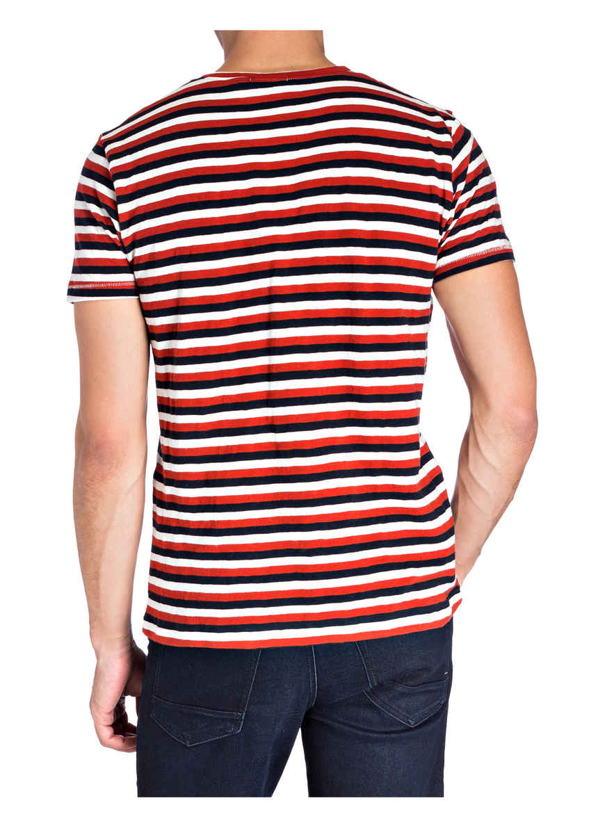 shirt Nudie DunkelorangeWeissDunkelblau Bei Jeans T Von Anders Kaufen QWCBerdxoE