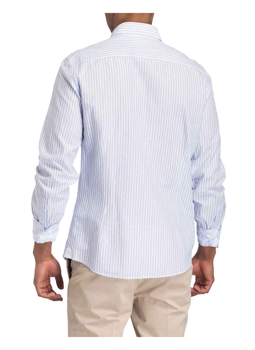 Kaufen Bei London Slim Fit Hackett BlauWeiss Hemd Von y8nmNPw0Ov