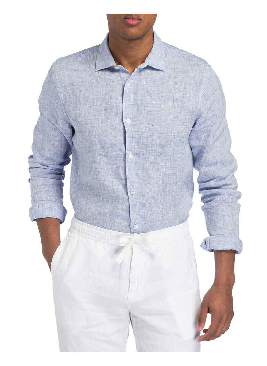 Orlebar Kaufen Blau Giles Brown Tailored Von Meliert Fit Bei Leinenhemd WQCoedBxr