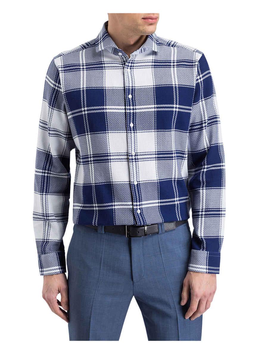 Hemd Tailored Fit Von Seidensticker Blau/ Weiss Black Friday