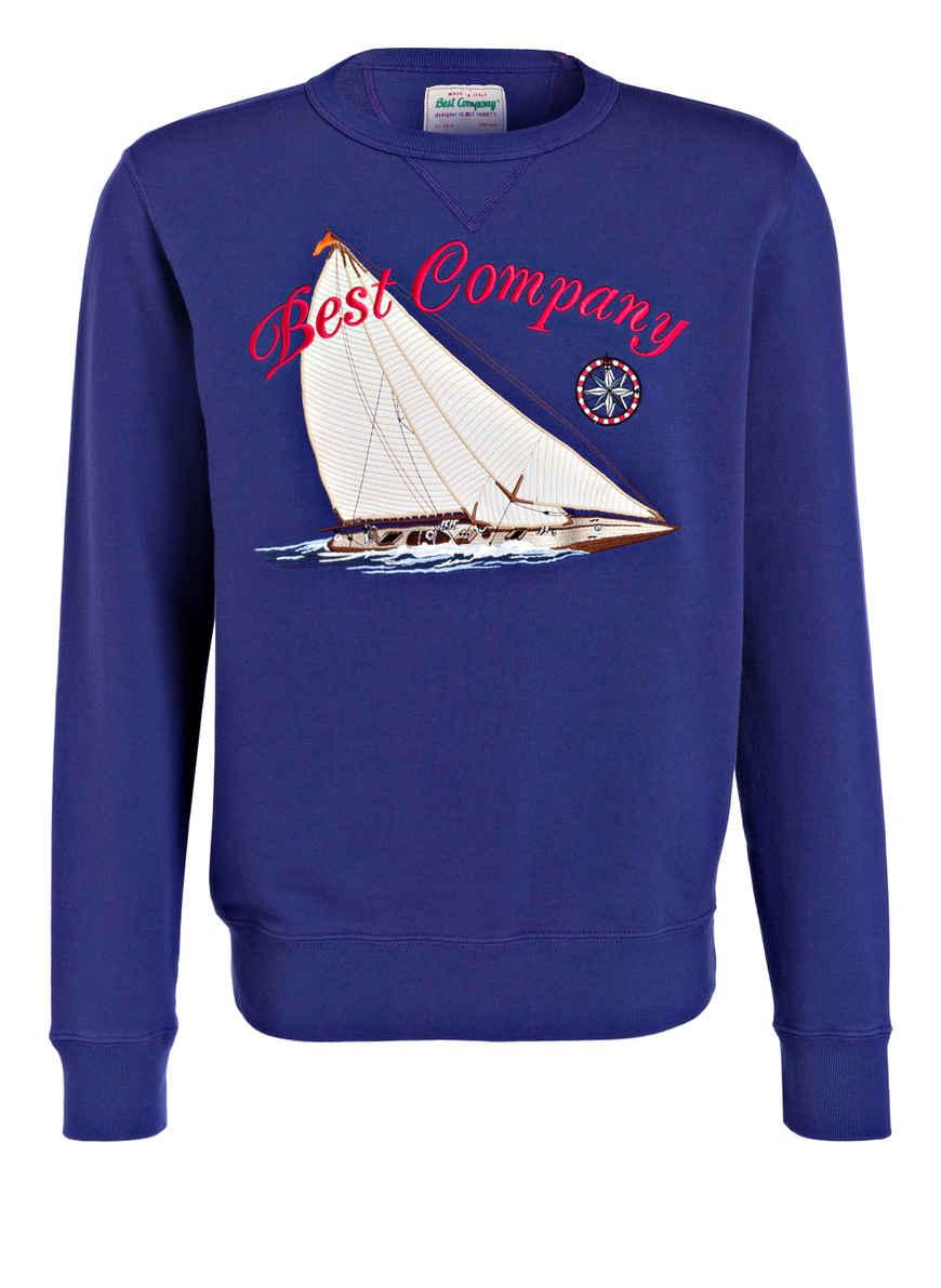 Bei Von Kaufen Sweatshirt Dunkellila Best Company clKF1J