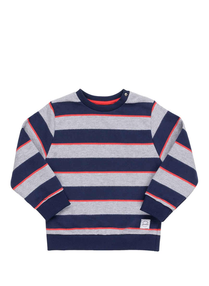 Kaufen Gestreift Sanetta Kidswear BlauGrau Bei Von Sweatshirt CrdeoxB
