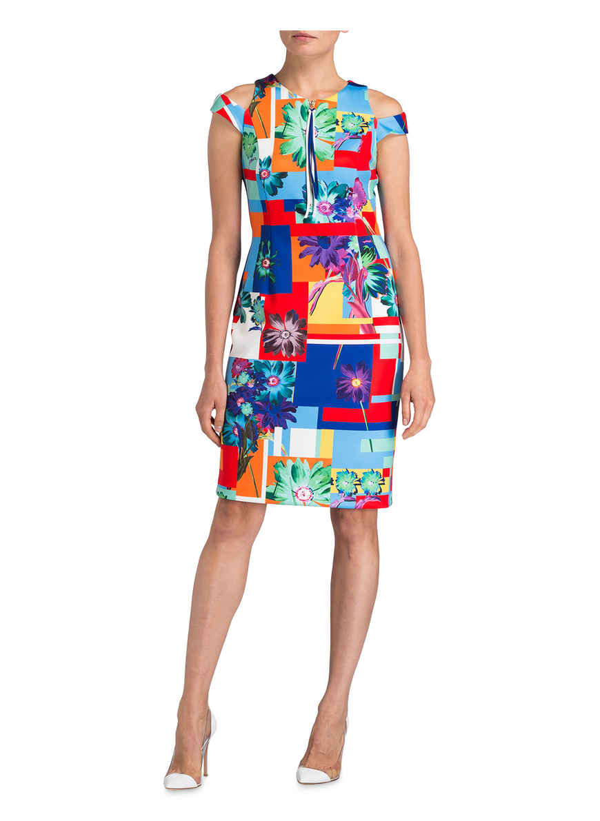 Von Joseph Kaufen Ribkoff BlauRotOrange Kleid Bei HW9E2YeDIb
